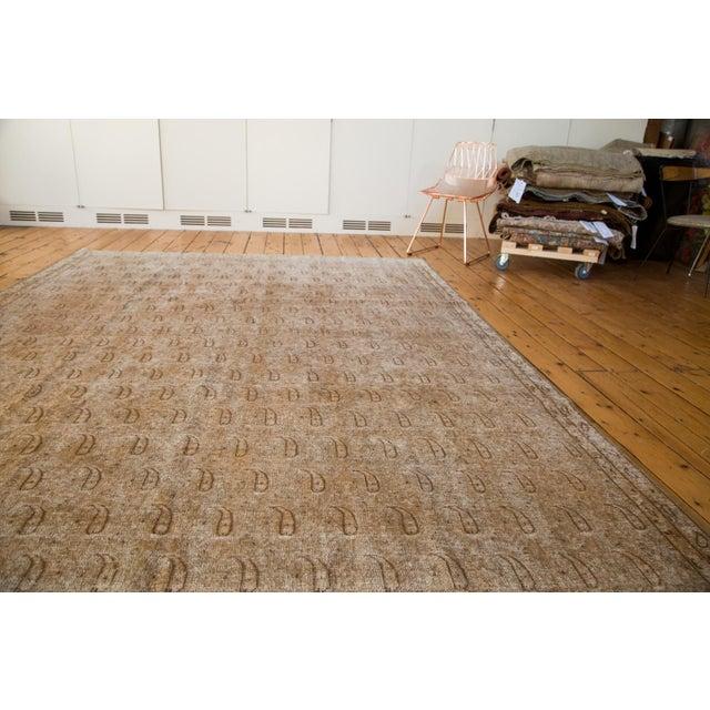 """Distressed Vintage Khorassan Carpet - 7'10"""" x 11'3"""" - Image 4 of 7"""