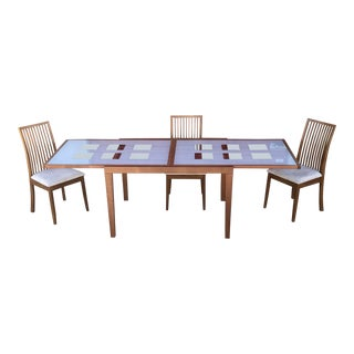 "ESF ""Poker"" Expandable Dining Table & Chairs Set For Sale"