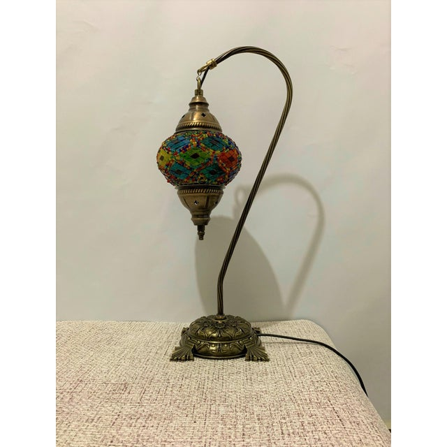 2010s Turkish Handmade Mosaic Table Lamp For Sale - Image 5 of 5