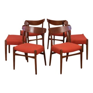Set of Six Hans J. Wegner Ch-23 Dining Chairs For Sale