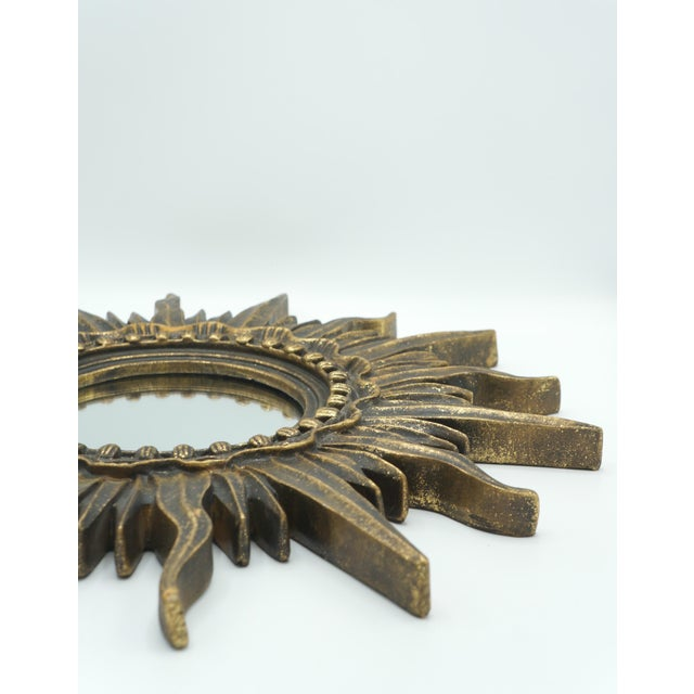 Metal French Golden Gilt Sunburst Mirror For Sale - Image 7 of 12