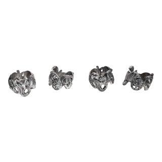 Godinger Silverplate Sea Shell Sea Life Napkin Rings - Set of 4 For Sale