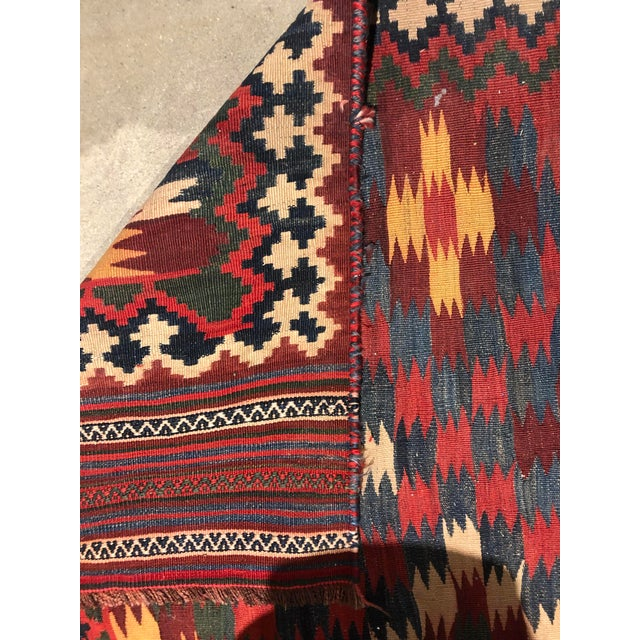 Early 20th Century Antique Persian Kilim Qashqai Rug For Sale - Image 5 of 7
