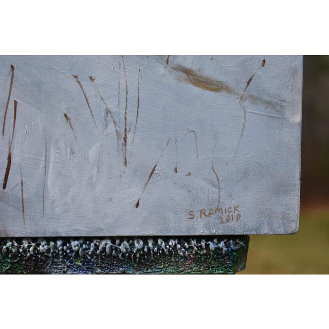"Stephen Remick Stephen Remick ""River, Road, Field, Mountain"" Contemporary Landscape Painting For Sale - Image 4 of 10"