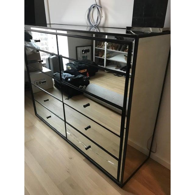 Restoration Hardware Strand 10-Drawer Mirrored Dresser - Image 6 of 6