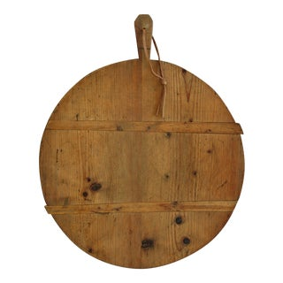 1920s Large French Harvest Bread Cheese Board