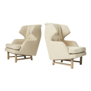 "Pair of ""Janus"" Wing Chairs by Edward Wormley"