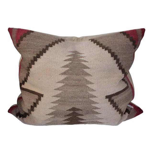 Monumental Early Navajo Weaving Pillow For Sale