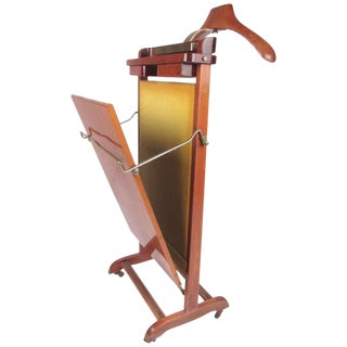 Mid-Century Fratelli Reguitti Valet Stand With Trouser Press For Sale