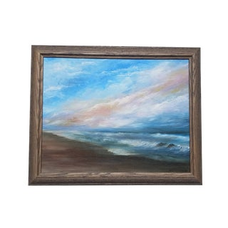 Seascape Sunset Framed Painting
