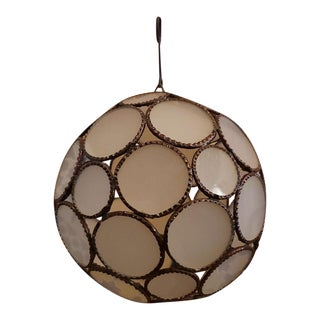 Moroccan Glass Lantern, All White Ball Style For Sale