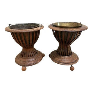 19th C. English Bentwood Edwardian Planters - A Pair For Sale
