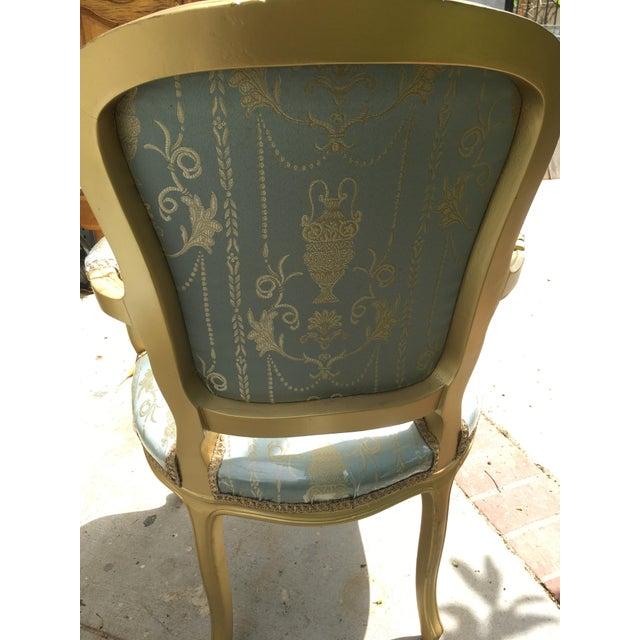 Gold Gilt Italian Louis XVI Settee & Chairs - Set of 3 - Image 8 of 9