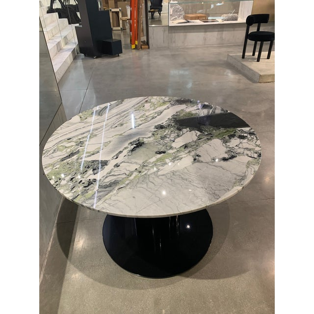 Mid-Century Modern Tom Dixon Primavera Table 1100mm withTube Black Base For Sale - Image 3 of 11