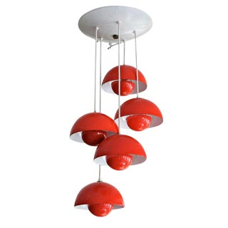 1970's Big Flower Pot Hanging Light by Verner Panton For Sale