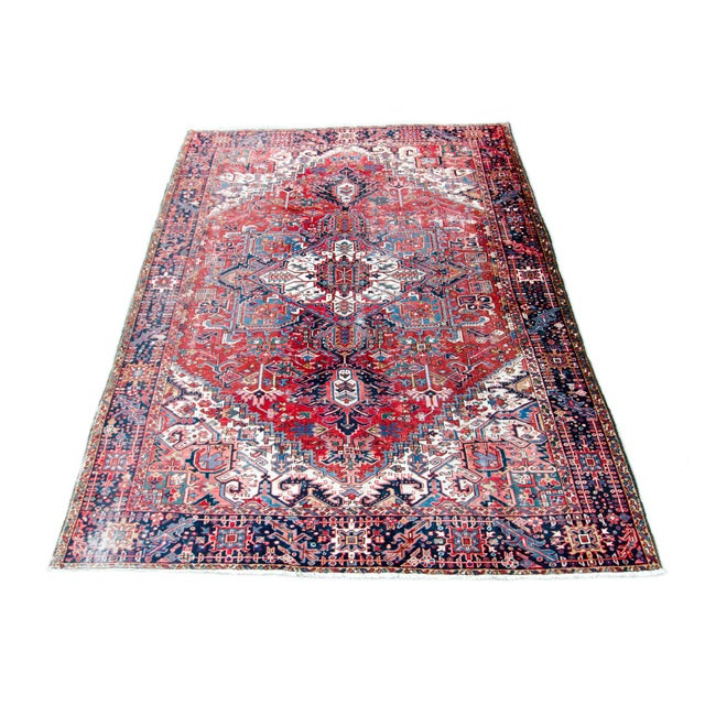 Islamic 1920s Large Heriz Rug - 11′4″ × 14′1″ For Sale - Image 3 of 11