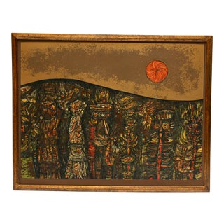"""Mid 20th Century """"Beneath the Sea"""" Serigraph by Harry Krug For Sale"""