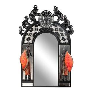 Barbini and FMurano Glass Mirror For Sale