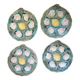 Image of Mid-Century Italian Oyster Plates- Set of 4 For Sale