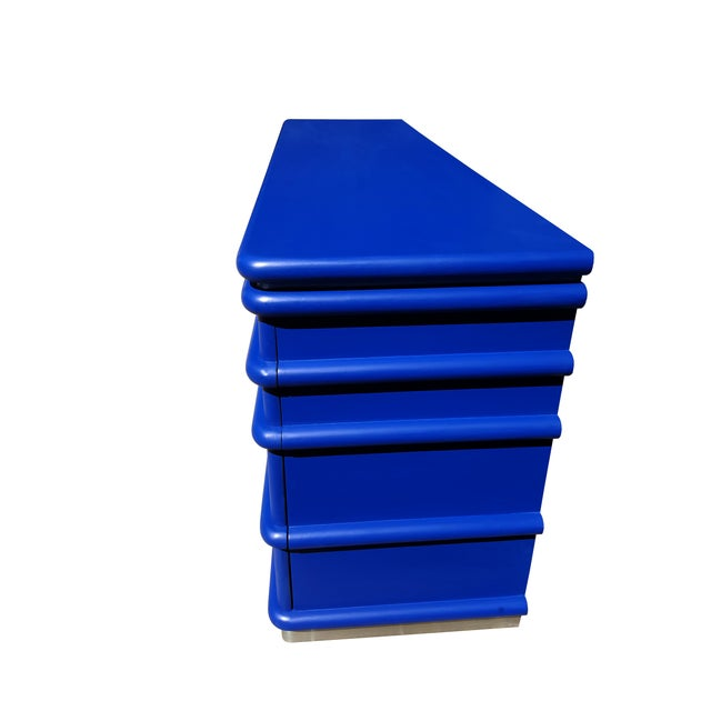 Mid-Century Modern Art Deco Blue Klein Jay Spectre Dresser - Image 5 of 6