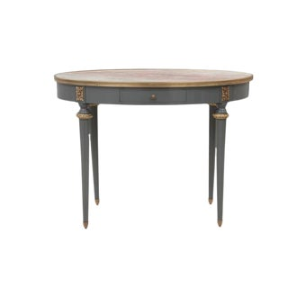 Vintage Neoclassical Style Marble Accent Table For Sale