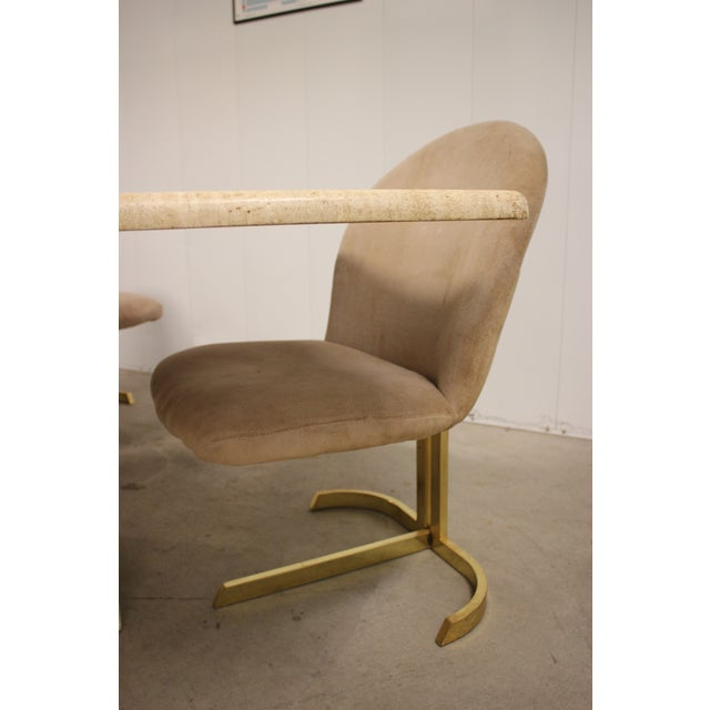 Tan Space Age Milo Baughman Style Dining Room Table & Chairs For Sale - Image 8 of 13