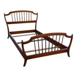 Image of Antique Chinoiserie Faux Bamboo Twin Bed For Sale