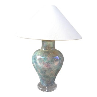 1990 Casual Lamps of California Lamp With Lucite Base For Sale