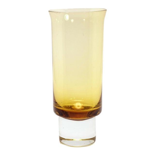 Aseda Sweden Mid-Century Modern Golden Crystal Glass Vase For Sale