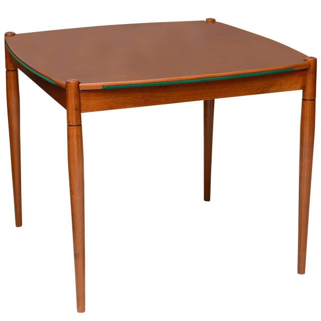 Italian Modern Walnut Game Table by Gio Ponti for Singer & Sons For Sale - Image 11 of 11