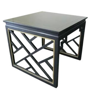 Kindel Square Trellis Lamp Table For Sale