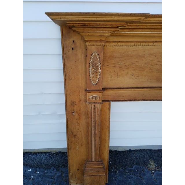 Americana Early 19th Century Federal Wooden Mantel For Sale - Image 3 of 9
