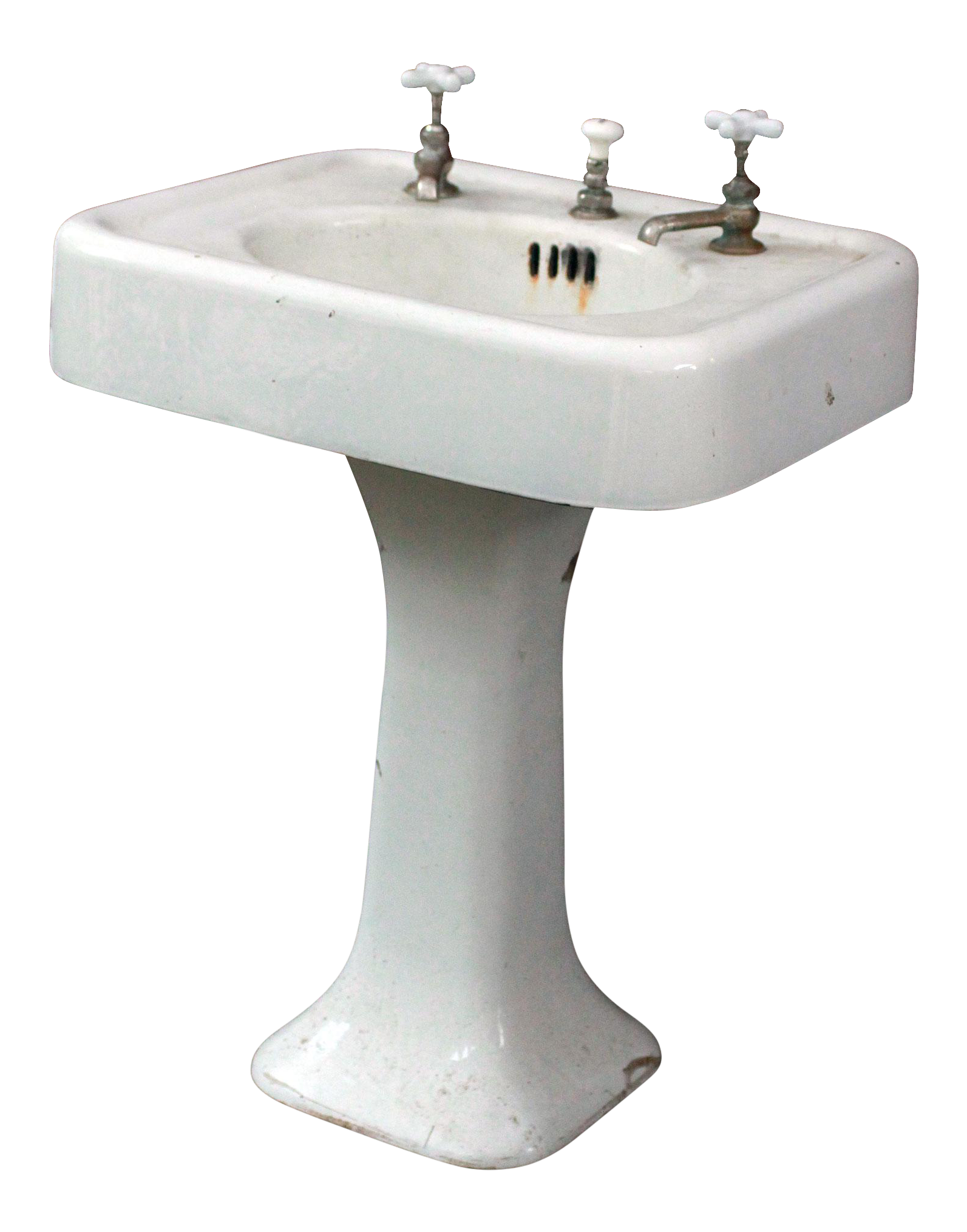 Amazing 1920u0027s Antique Cast Iron U0026 Porcelain Pedestal Sink