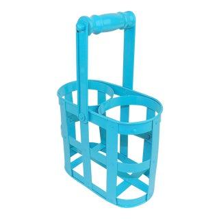Aqua Blue 2-Bottle Wine Rack