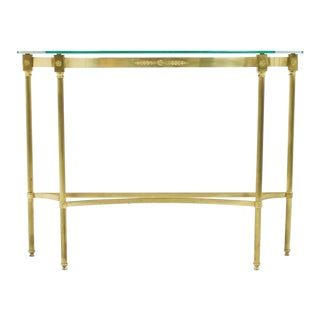 Brass and Mirror Console, Side Table, 1960s For Sale