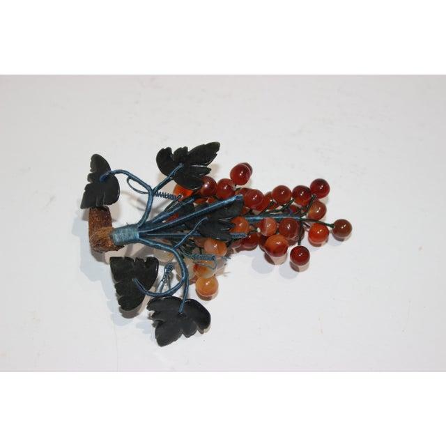 Vintage Apricot/Amber Quartz Mini Grape Cluster For Sale - Image 4 of 5