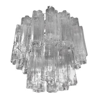 Vintage Murano Glass Chandelier Tronchi