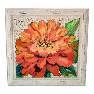 Orange Dahlia Collage For Sale