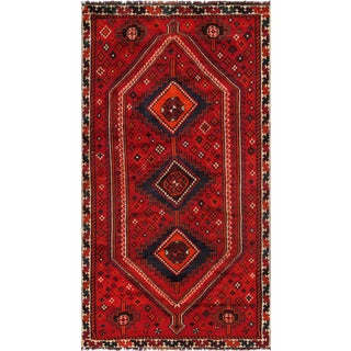 "Pasargad Vintage Shiraz Area Rug - 4' 9"" X 8' 7"" For Sale"