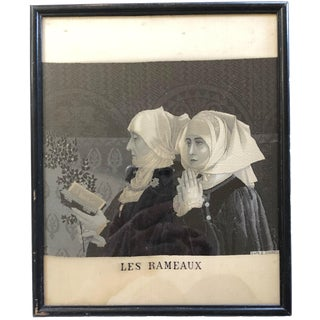 Palm Sunday Woven Fabric of Nuns, Framed For Sale