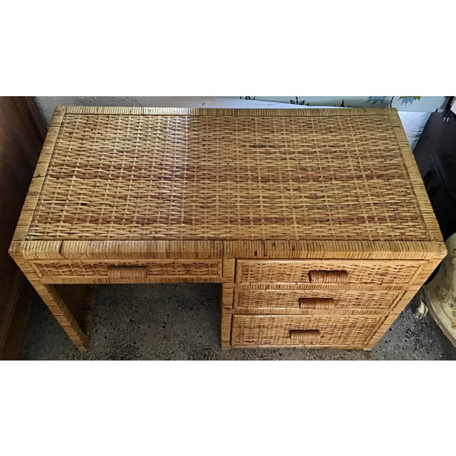 Bielecky Brothers 1960s Boho Chic Bielecky Brothers Writing Desk For Sale - Image 4 of 12