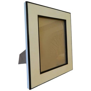 Ebony Wood Inlay Parchment Picture Frame