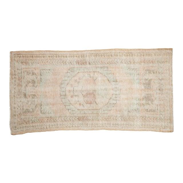 """Vintage Distressed Oushak Rug Runner - 2'7"""" X 4'11"""" For Sale"""