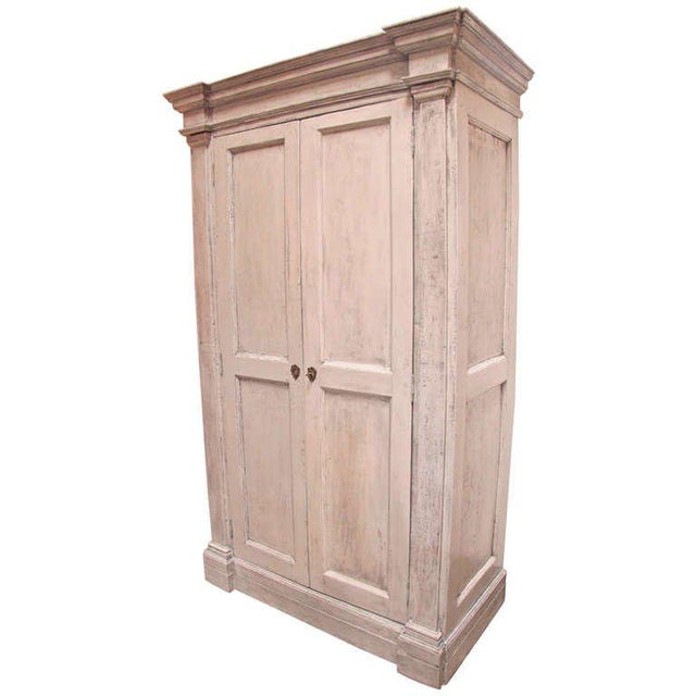 Italian 18th C. Oversized Distressed Armoire For Sale - Image 11 of 11