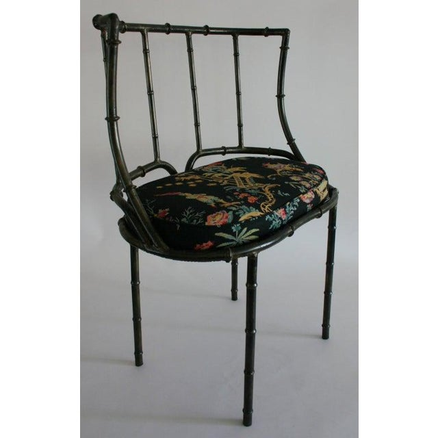1950s Iron Faux Bamboo Settee For Sale - Image 5 of 7