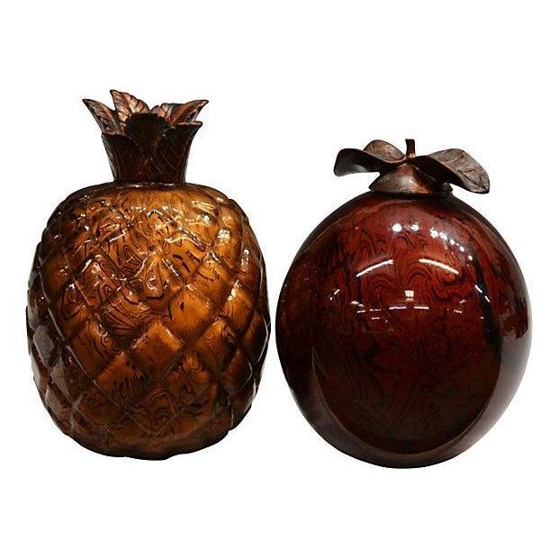 Art Glass Fruit Figures - Set of 5 - Image 2 of 4