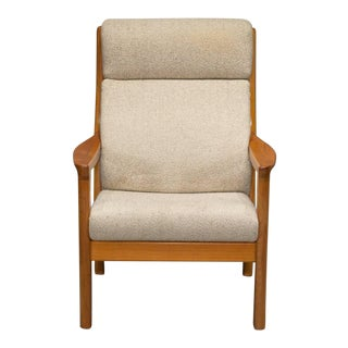 Teak High Back Armchair by Johannes Andersen for Cfc Silkeborg For Sale