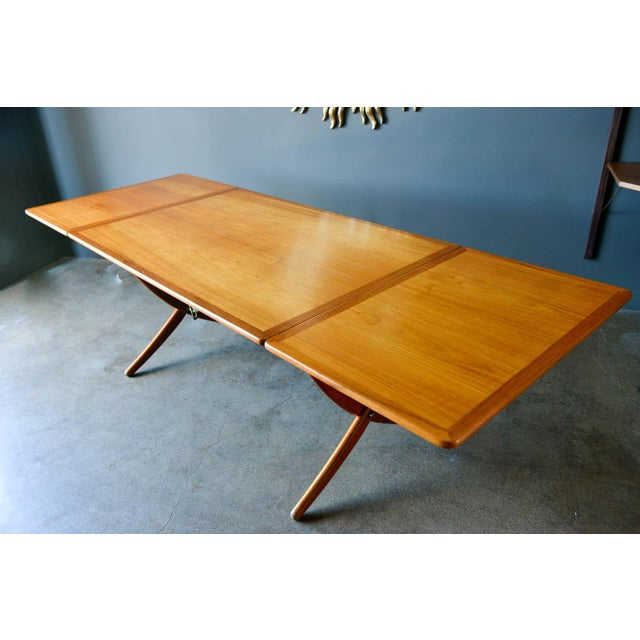 1950s Hans Wegner for Andreas Tuck Model At-304 Dining Table, Circa 1955 For Sale - Image 5 of 13