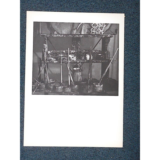 This mid 20th C. photogravure of the famous French mid century modern artist Georges Braque is from the iconic mid 20th...