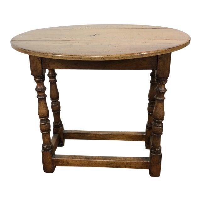 20th Century Folk Art Drop Leaf Table For Sale